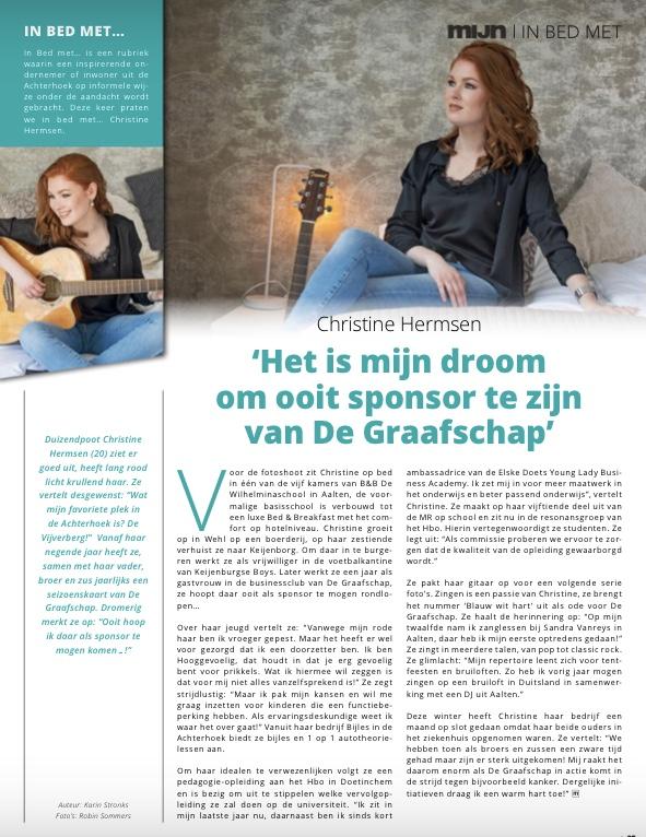 Interview Christine Hermsen Bijles in de Achterhoek in MIJN Magazine